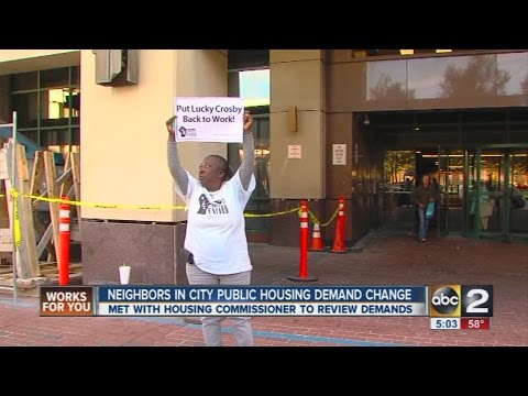 Public housing residents protest conditions