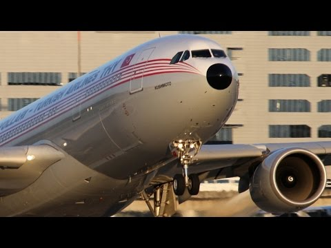 AIRBUS A330 LANDING - Turkish Airlines Retro (4k)