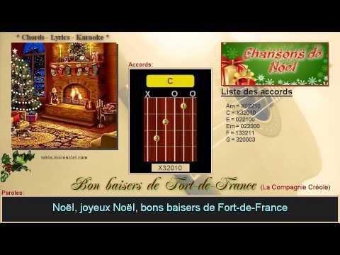 Paroles et accords - Bon baisers de Fort de France (Cover Karaoke, sans voix)