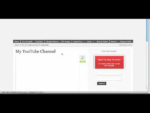 how to add link to youtube video in wordpress site
