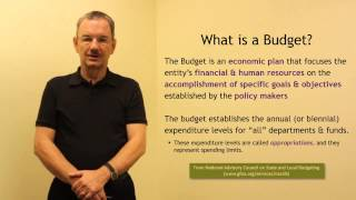 Session 1 - What is  a Budget? (Budgeting Basics)