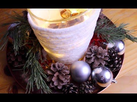 DIY: Centro de mesa navideño (súper fácil)