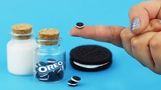 MINIATURE OREO COOKIES ♥ DIY Milk & Cookie Jars