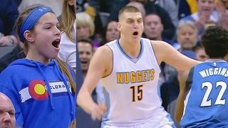 Andrew Wiggins Dunks on Nikola Jokic! Plumlee Nuggets Debut! Timberwolves vs Nuggets