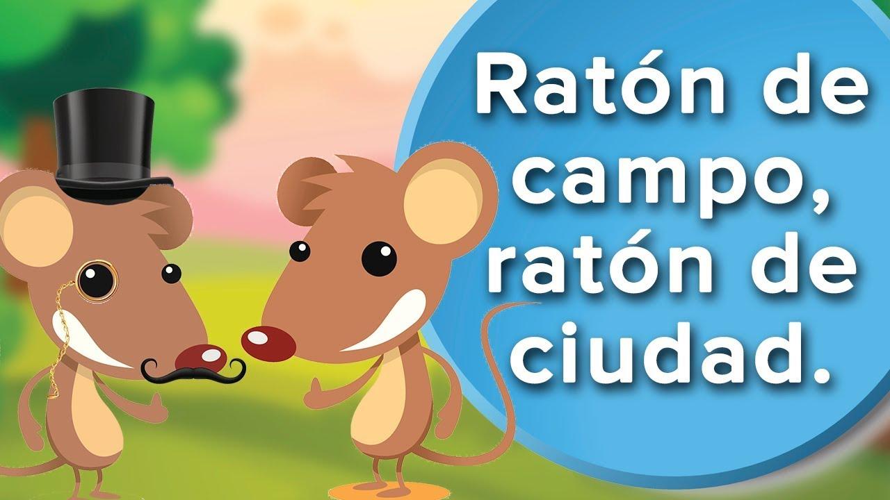 Ratón de campo y ratón de ciudad | Fábula para niños con moraleja