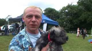 Mr. Simon Pegg & Minnie Schnauzer's First Day Out In The World