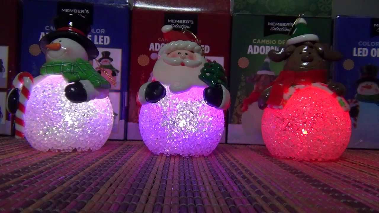 Figuras navide as sobre bola de luz led colores cambiantes for Figuras de nieve navidenas