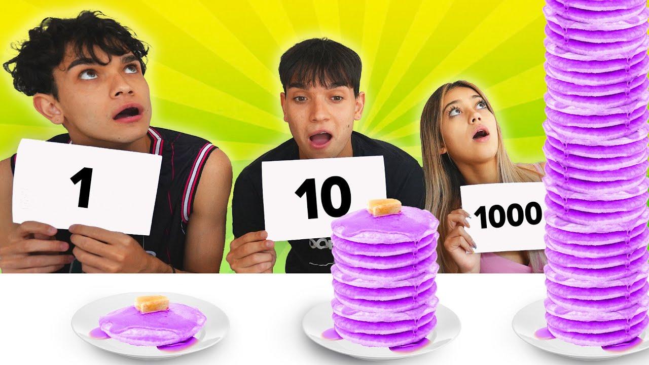 1000 LAYERS FOOD CHALLENGE!