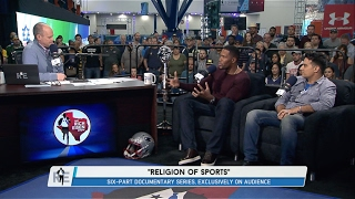 "HOFer Michael Strahan & Creator of ""Religion of Sports"" Gotham Chopra Join The RE Show - 2/2/17"