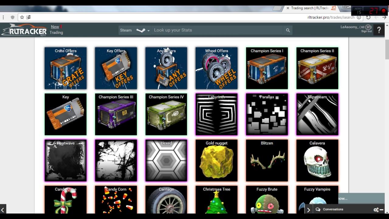 كيف تسوي مقايضه او تريد في روكيت ليق Rocket League Trading Ps4 Xbox Pc Youtube
