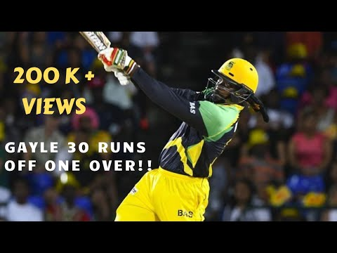 Chris Gayle smashes 30 runs in one over!! | CPL T20 2016