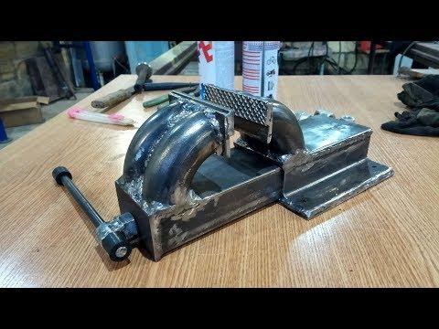 видео: Крутые тиски своими руками. making a metal vise