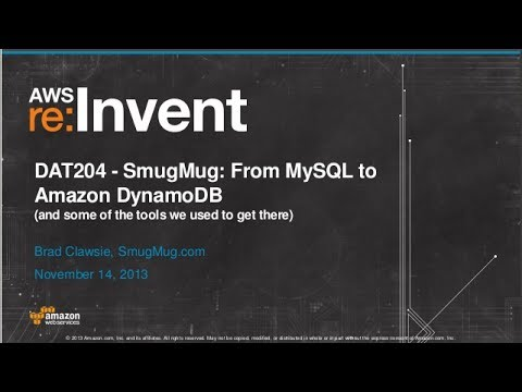 SmugMug: From MySQL to Amazon DynamoDB (DAT204) | AWS re:Invent 2013
