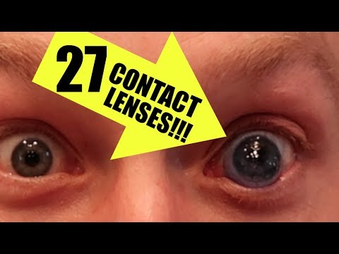 DO NOT TRY THIS! RACHEL IS NOT HAPPY!  27 CONTACT LENSES!