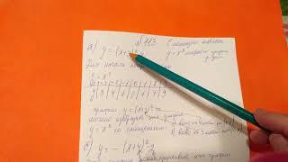 113 Алгебра 9 класс С помощью шаблона Постройте график функции заданной формулой