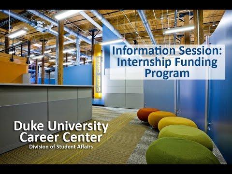 2015 Internship Funding Program
