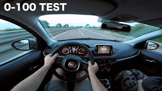 2017 fiat tipo 1.4 turbo gpl 120hp strong acceleration, review & 0-100 [raw pov] (english subs)