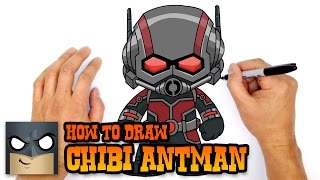 How to Draw Ant-Man (Chibi)- Kids Art Lesson