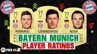 FIFA 20 | BAYERN MUNICH PLAYER RATINGS 😳🔥| FT. LEWANDOWSKI, HERNANDEZ, NEUER... etc