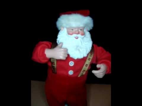Jingle Bell Rock Santa Claus Dancing Singing Animated Musical 1998 edition 1
