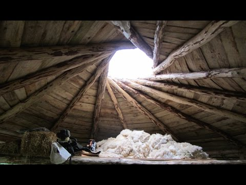 Off grid roundhouse build part 15, cordwood walls, Roof window.