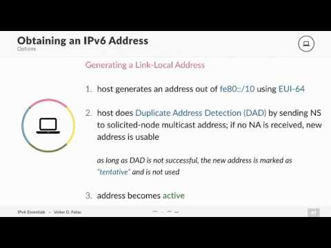 Ipv6 Generating A Link Local Address Youtube