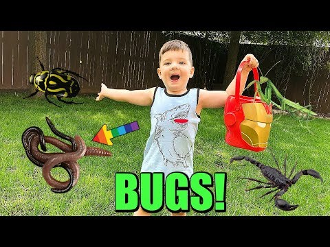 Caleb And Mommy Play and Find REAL BUGS Outside! Pretend Play with Insects!