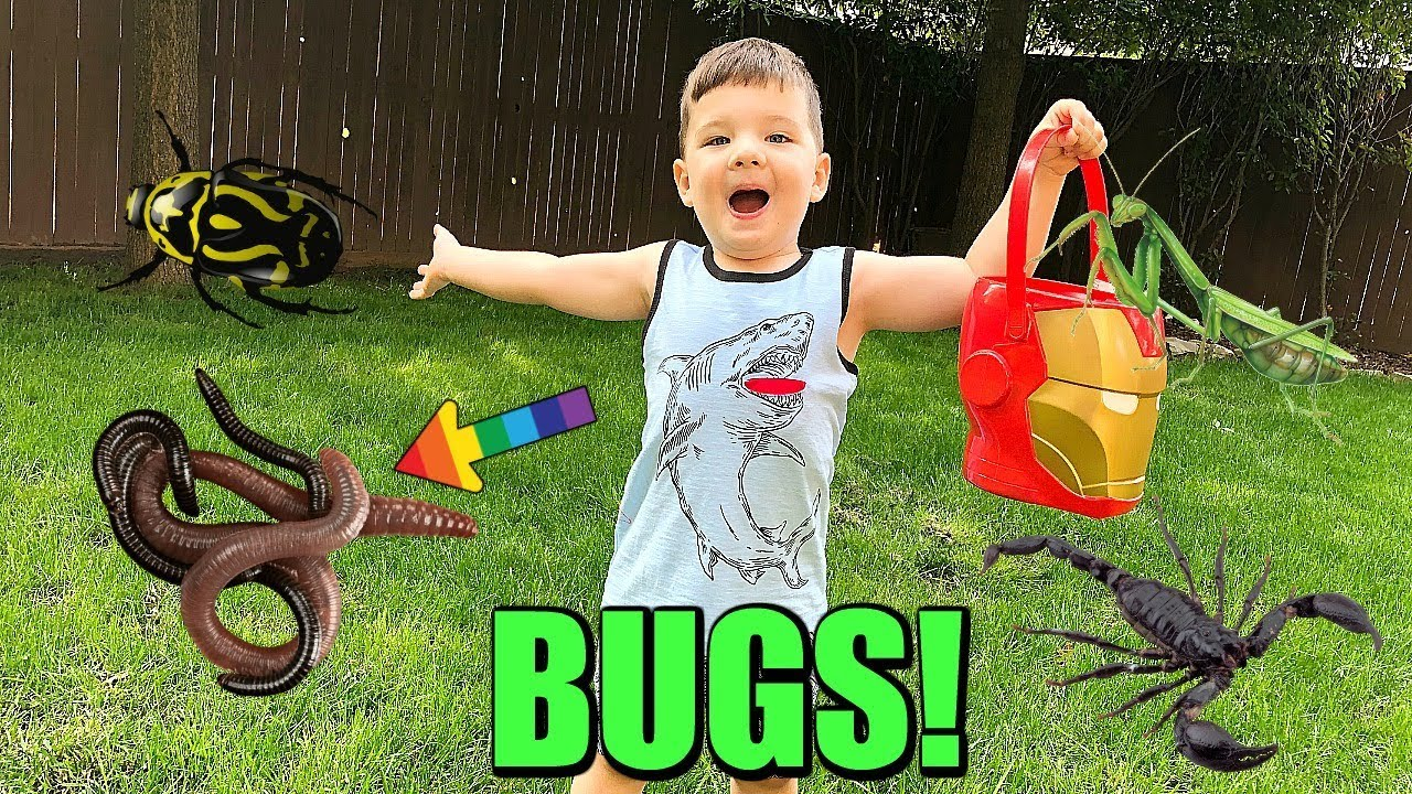 Download Caleb And Mommy Play and Find REAL BUGS Outside! Pretend Play with Insects!