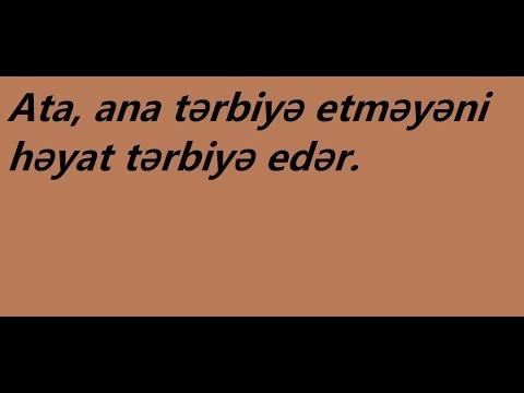 atalar sözləri 1