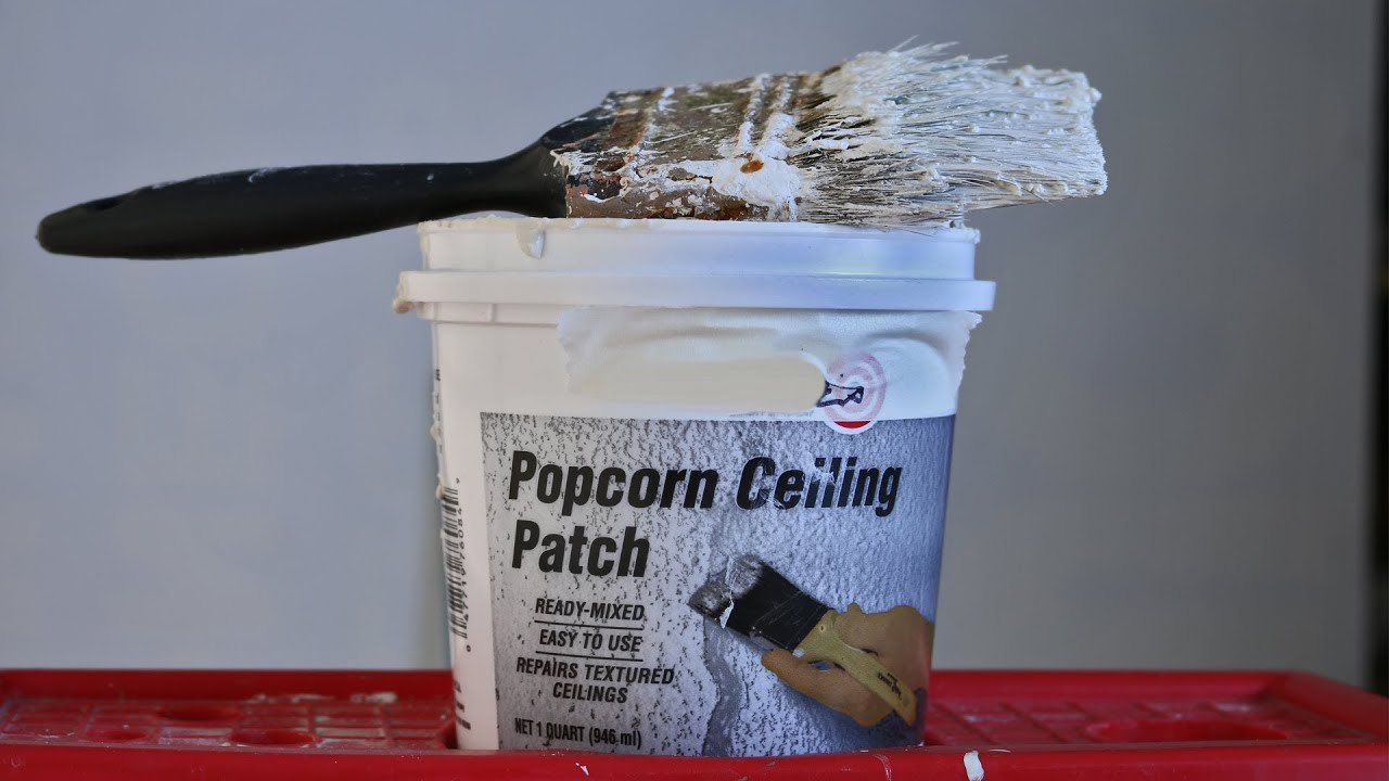 Easy Fix - Popcorn Ceiling Patch Repair with Brush - YouTube
