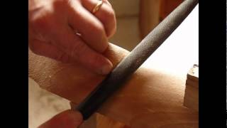 How To Use A Hand-stitched Rasp On Wood - Example # 1 In Furniture Making