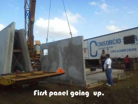 Modular Precast Systems Affordable Housing Nicaragua YouTube