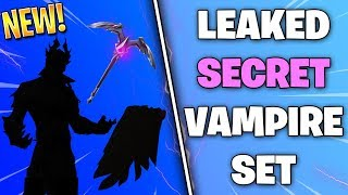Fortnite LEAKED SECRET VAMPIRE MALE SET! *Sanctum, Moonshine, Coven Cape*