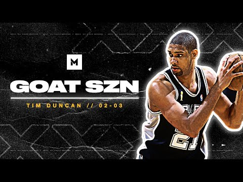 Tim Duncan Is The GREATEST Power Forward Of All-Time! 2002-03 Highlights | GOAT SZN