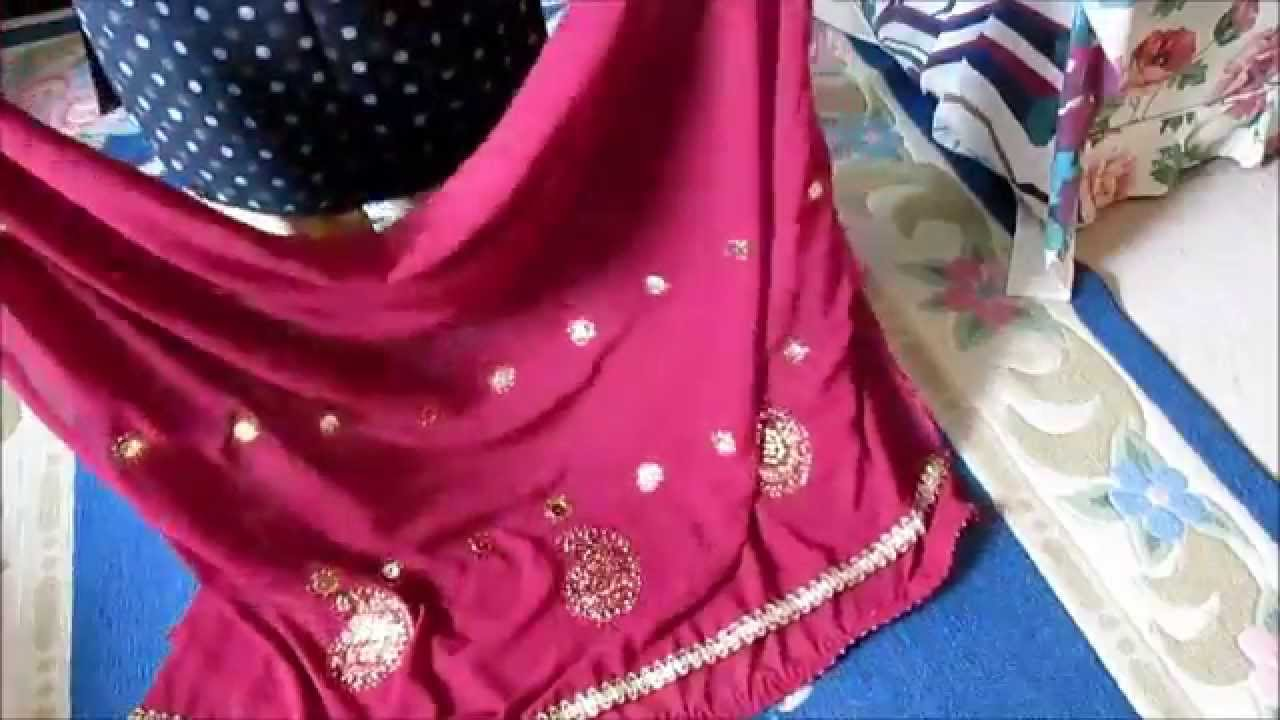 DIY DUPATTA DECORATIONS: ALL THE DUPATTAS I HAVE DECORATED SO FAR.   YouTube