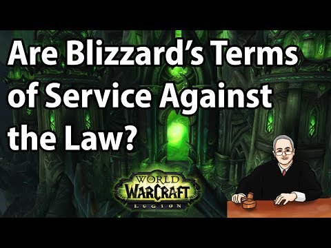 Are Blizzard's Terms of Service Against the Law?