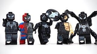 Venom Spider Man Venom Captain America Venom Deadpool We are Venom Unofficial Lego Minifigures
