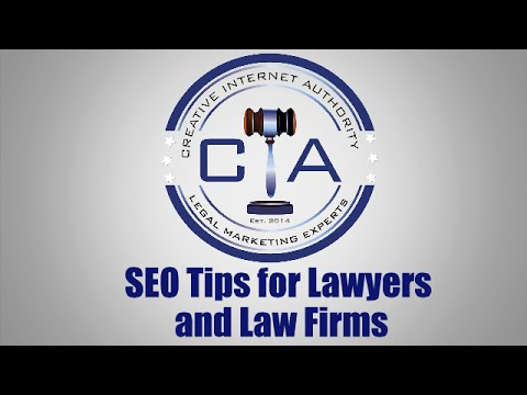 Legal Marketing - SEO Tips for Lawyers and Law Firms