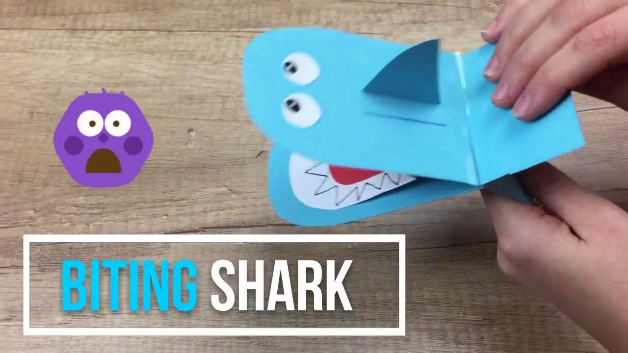 BITING SHARK paper craft for kids super