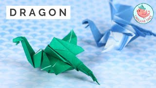 Origami Dragon - Easy But Cool Paper Folding!