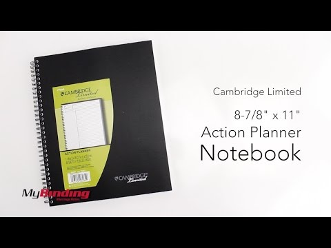 "Cambridge Limited 8 78"" x 11"" Action Planner Notebook - 06064"
