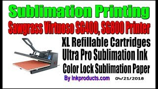 Dye Sublimation Ink Refill Kit For Sawgrass SG400, SG800 Printers