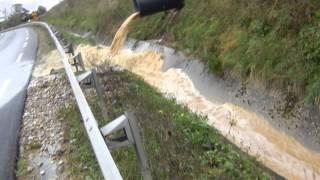 Inondations Route de Luzinay direction Vienne(38)