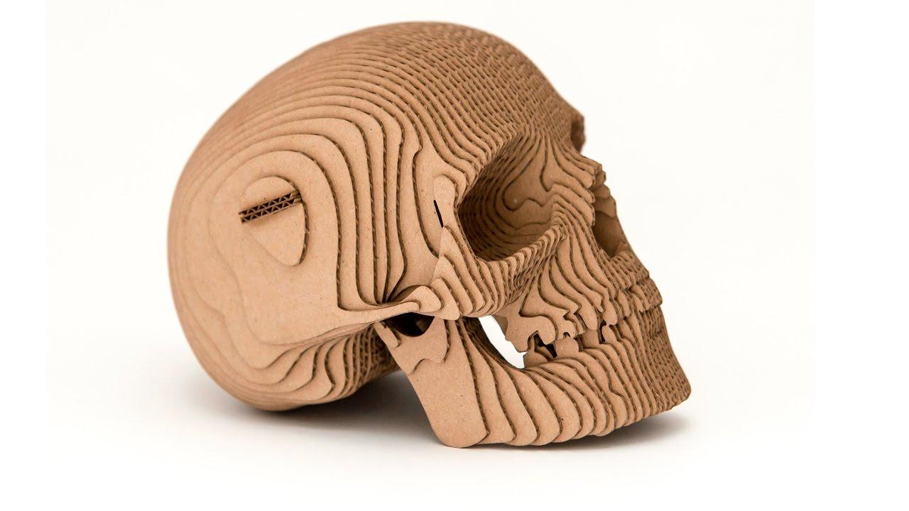 Human Skull Of Cardboard Youtube