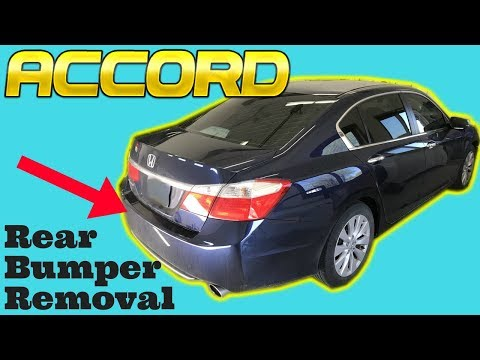2013 2014 2015 2016 2017 Honda Accord Rear Bumper Removal How to Remove Replace Install