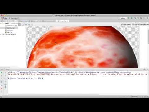 """Approaching a Class M Planet"" Pygame Demo"""