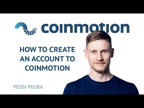 How to open a Coinmotion account?