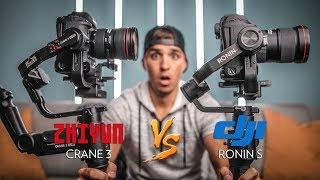 DJI Ronin S vs  Zhiyun Crane 3 Lab