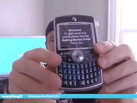 Motorola Q 9h Unboxing