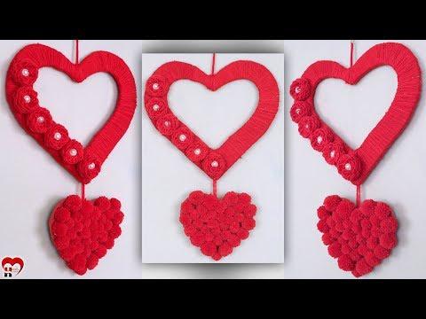 DIY - Heart Wall Hanging !!! Easy Wall Decoration Ideas